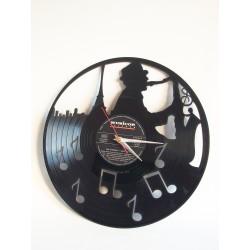 "Horloge Vinyl ""Saxo Jazz"""