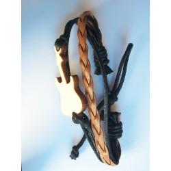 Bracelet cuir avec guitare...