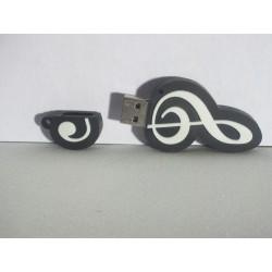 Clé USB en forme de Clé de Sol