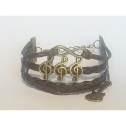 Bracelet cuir pour musicien