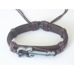 Bracelet cuir avec guitare