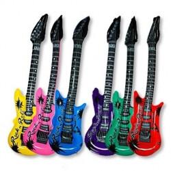 Guitare gonflable colorée -...